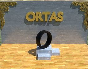 ORTAS TIRE NO 18 GAME READY 3D asset low-poly