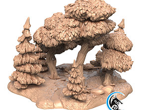 3dprintable Pre-supported 3D printable model of Forest