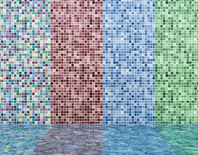 Mosaic Pool With Water 3D