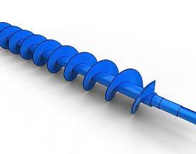 3D Archimedes screw auger