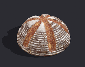 3D asset Medieval Style Cross Top Bread