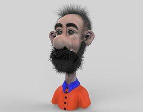 Beard Comic Character 3D
