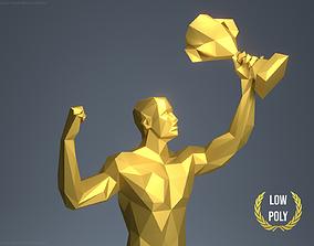 The Winner Low Poly Trophy 3D print model