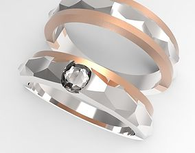 simple engagement ring 3D printable model