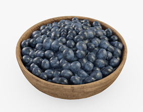 Blueberries 3D model