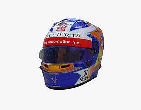 Grosjean helmet 2019 3D asset