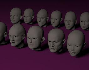 Human Heads characters 3D model