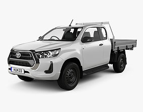 Toyota Hilux Extra Cab Chassis SR 2020 3D