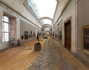 3D model Louvre museum Paris interior