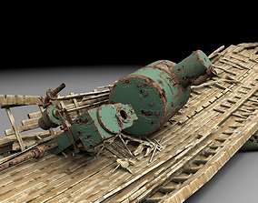 Wooden shipwreck 3 3D model