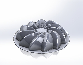 Helical cake mold 3D print model