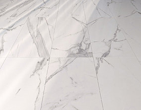 3D Marble Floor Afyon White Set 1