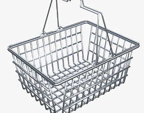 3D Shopping Metal Basket
