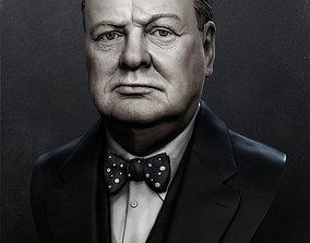 3D printable model Winston Churchill