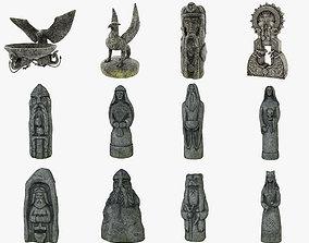 3D asset Celtic Idols Pack