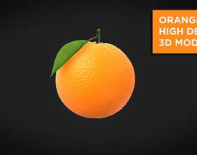 Orange High Detail 3D model