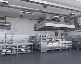 3D Commercial Kitchen v2