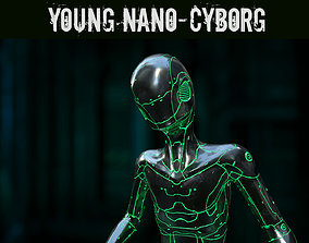 Young Nano-Cyborg 3D asset rigged