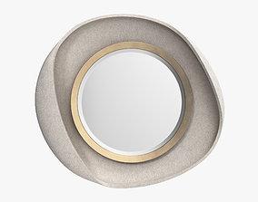 R and Y Augousti - Petal mirror in cream shagreen 3D model