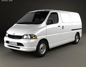 3D model Toyota Hiace Panel Van 1995