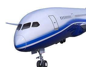 Boeing 787 DREAMLINER high detailed no name 3D asset