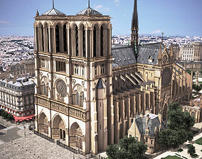 inside Notre Dame de Paris Tribute 3d model