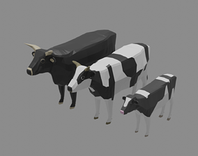 Cow Family Pack 3D asset
