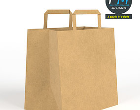 Fast food paper bag 3D
