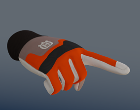 Protective gloves 3D asset