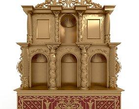 3D model colonial hispanic american retable