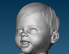 character Baby at the potty HIGHPOLY 3D Print