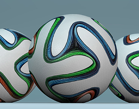 3D 2014 soccer ball