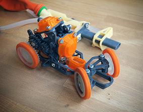 3D printable model Pneumobile - Pneumatic Toy Car