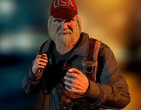 3D asset VR / AR ready Homeless traveler