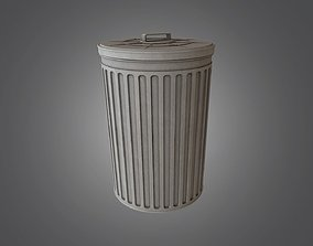 Trash Can - 4K PBR Game Ready 3D asset
