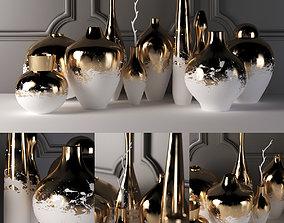 3D model splatter vase set