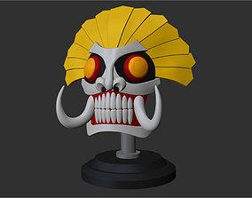 Hachigen Ushoda - Hollow Mask - Visored 3D printable model