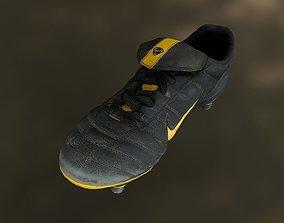 realtime Soccer shoe low poly 3D model