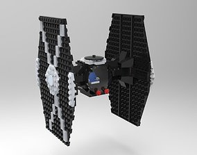3D model Lego TIE Fighter
