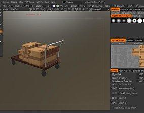 3D asset Cargo cart