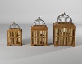 Elosie 3 Piece Decorative Bird Cage Set 3D