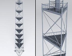 Scaffolding radio tower power 3D model