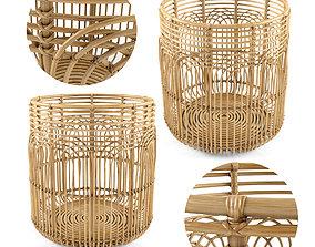 Large Naga Rattan Baskets 3D model