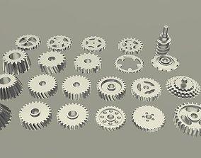 3D model gear gears