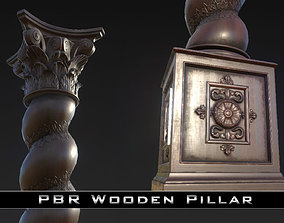PBR Wooden Pillar 3D asset