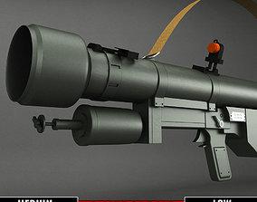 SA-7 Grail Rocket Launcher low poly 3D asset