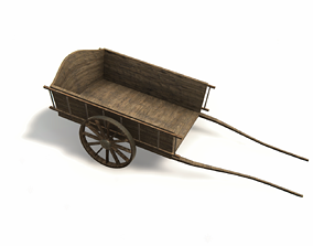 Wagon Dare Game Ready 3D asset
