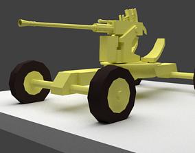 3D asset BOFORS 40 MM Anti Aircraft Gun