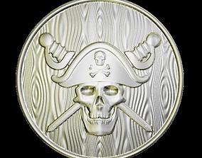 3D printable model Sculpting Skull Coin