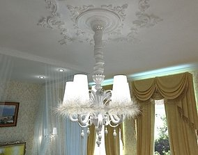 3D model Carlesso Blanche Chandelier
